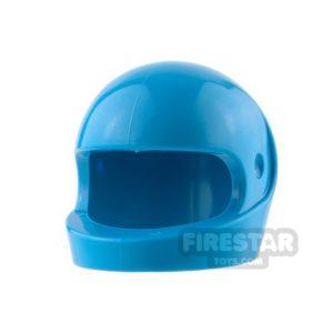 Product shot LEGO - Biker Helmet - Dark Azure