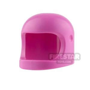 Product shot LEGO - Biker Helmet with Thick Chin Strap - Dark Pink