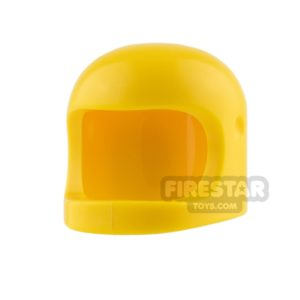 Product shot LEGO - Biker Helmet with Thick Chin Strap - Yellow
