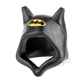 Product shot LEGO - Black Hood with Pointed Ears and Batman Logo