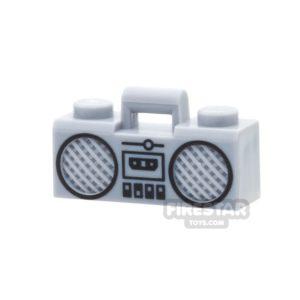 Product shot LEGO - Boom Box - Light Bluish Gray