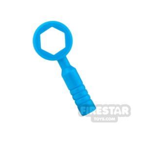 Product shot LEGO - Box Wrench - 3-Rib Handle - Dark Azure