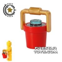 Product shot LEGO - Bucket of Water - Red
