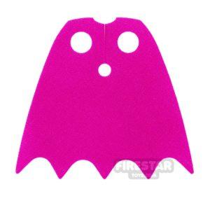 Product shot LEGO Cape - Batgirl - Shiny Soft Fabric - Dark Pink