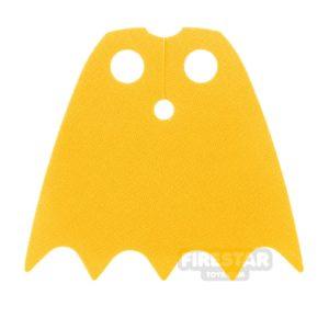 Product shot LEGO Cape - Batgirl - Shiny Soft Fabric - Yellow