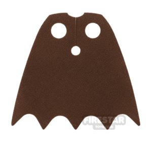 Product shot LEGO Cape - Batman - Reddish Brown