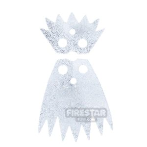 Product shot LEGO Cape - Ice Queen Cloak and Collar - White And Silver