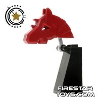 Product shot LEGO Castle - Knight Chess Piece - Red
