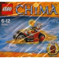 Product shot LEGO Chima 30265 - Worriz' Fire Bike