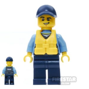 Product shot LEGO City Mini Figure – City Officer with Life Preserver