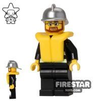 Product shot LEGO City Mini Figure – Fire - Life Jacket 2