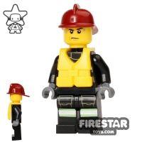 Product shot LEGO City Mini Figure – Fire - Life Jacket 3