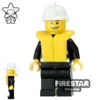 Product shot LEGO City Mini Figure – Fire - Life Jacket 6