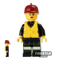 Product shot LEGO City Mini Figure – Fire - Life Jacket 7