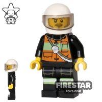 Product shot LEGO City Mini Figure – Fire - Orange Jacket
