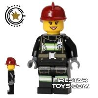 Product shot LEGO City Mini Figure – Fire - Reflective Stripes