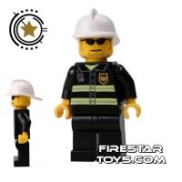 Product shot LEGO City Mini Figure – Fireman Black Sunglasses