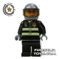 Product shot LEGO City Mini Figure – Fireman - Gray Helmet