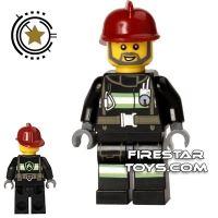 Product shot LEGO City Mini Figure – Fireman - Utility Belt