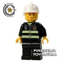 Product shot LEGO City Mini Figure – Fireman With Cheek Lines