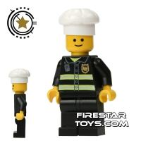 Product shot LEGO City Mini Figure – Fireman With Cook's Hat