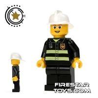 Product shot LEGO City Mini Figure – Fireman With Glasses