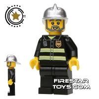 Product shot LEGO City Mini Figure – Fireman With Grey Beard