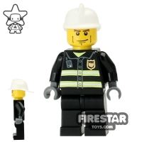 Product shot LEGO City Mini Figure – Fireman With Heavy Eyebrows
