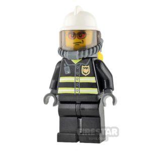 Product shot LEGO City Mini Figure – Fireman With Orange Glasses