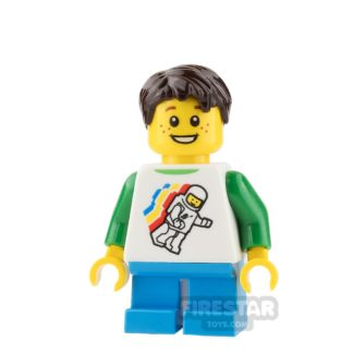Product shot LEGO City Mini Figure - Boy with Classic Space Top