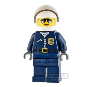 Product shot LEGO City Minifigure Helicopter Pilot Black Eyebrows