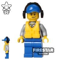 Product shot LEGO City Mini Figure - Coast Guard - Crew Member with Headphones