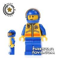 Product shot LEGO City Mini Figure - Coast Guard - Helicoper Pilot