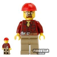 Product shot LEGO City Mini Figure - Demolition Manager