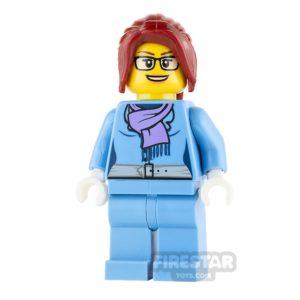 Product shot LEGO City Mini Figure - Female Winter Vacationer