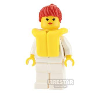 Product shot LEGO City Mini Figure - Female with Life Jacket