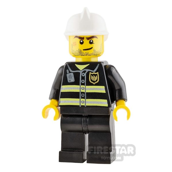 Product shot LEGO City Mini Figure - Fireman - Crooked Smile with Scar