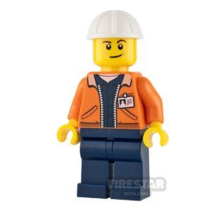 Product shot LEGO City Mini Figure - Miner - Equipment Operator