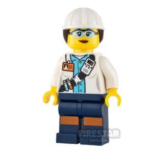 Product shot LEGO City Mini Figure - Miner - Female Scientist