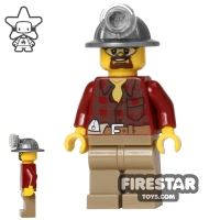 Product shot LEGO City Mini Figure - Miner - Flannel Shirt