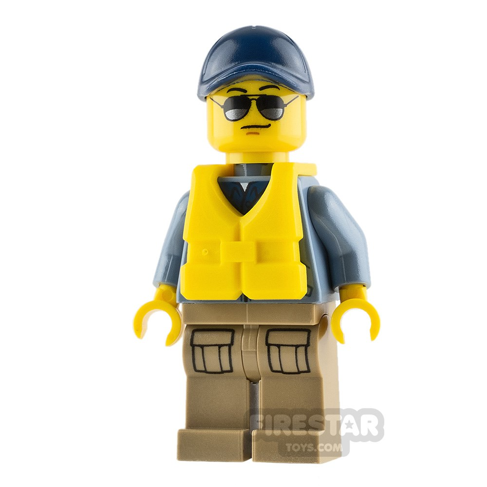 Product shot LEGO City Mini Figure - Mountain Police - Officer Male with Life Jacket