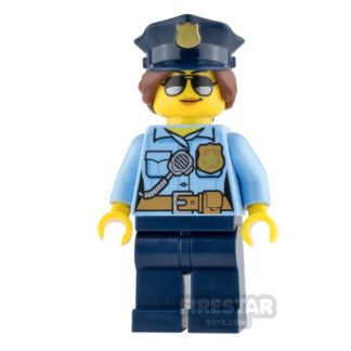 Product shot LEGO City Mini Figure - Police - City Officer Female with Police Hat