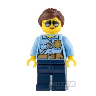 Product shot LEGO City Mini Figure - Police - City Officer Female with Sunglasses