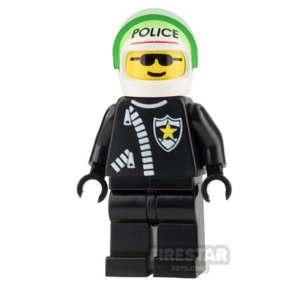 Product shot LEGO City Mini Figure - Police - Zipper with Sheriff Star