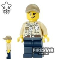 Product shot LEGO City Mini Figure - Swamp Police - Officer with Cap