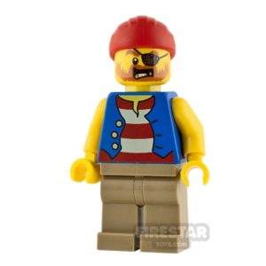 Product shot LEGO City Minifigure Pirate with Striped Top