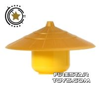 Product shot LEGO - Conical Hat - Pearl Gold