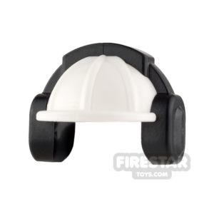 Product shot LEGO - Construction Hard Hat Helmet with Ear Defenders - White