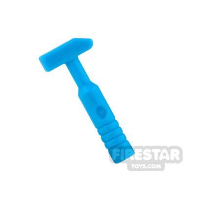 Product shot LEGO - Cross Pein Hammer - 3-Rib Handle - Dark Azure
