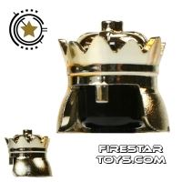 Product shot LEGO - Crown - Chrome Gold